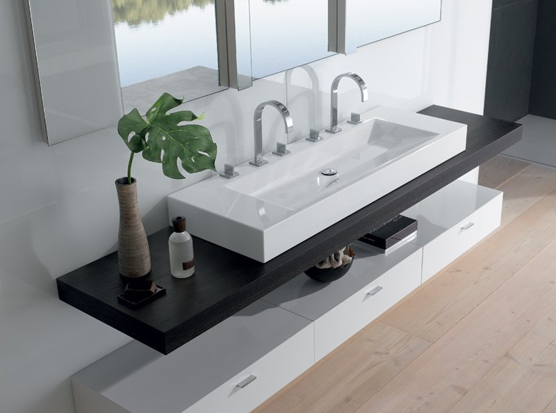 Keramikartikel und waschbecken f r ihr badezimmer - Lavabos dobles sobre encimera ...